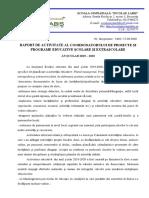 Raport Anual Coordonator Proiecte Si Programe 2019 2020