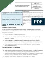 EI-FT-50 Formato Papel de Trabajo de Auditoria Interna - PROCEDIMIENTO de FLUJO de CAJA