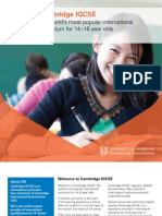 Cambridge IGCSE Brochure