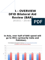 Analysis of DFID spend in Asia