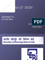 Role Of SEBI In Capital Markets