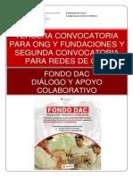 Tercera Convocatoria Ong y Segunda Convocatoria Redes de Ong Fondo Dac