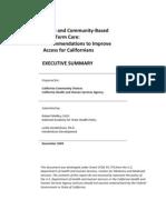 California Long-Term Care Study Final Report Executive Summary PDF