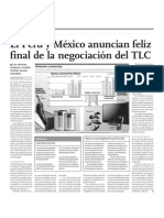 El Perú y México anuncian feliz final de la negociación del TLC