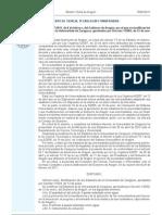 Estatutos de la Universidad de Zaragoza. Modificación DECRETO 27/2011