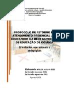 Protocolo 12-08-2021 de Retorno Do Atendimento Presencial Aos Educandos Da Rme Rev-Ago2021