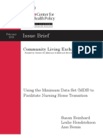 2005 Using the Minimum Data Set and Section Q to Facilitate Nursing Home Transition