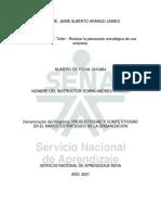 AA1-EV02 Taller - Realizar La Planeación Estratégica de Una Empresa JAIME ARANGO