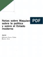 Antonio Gramsci - Notas sobre Maquiavelo, sobre la política y sobre el estado moderno-Nueva Visión (1980)