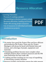 Topic 9 Resource Allocation