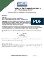 ACLU Foreclosure Challenge