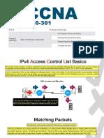 CCNA - M10 - CAP 2 v2 - Parte 1 - IPv4 Access Control List Basics
