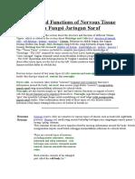 Structure and Functions of Nervous Tissue Struktur dan Fungsi Jaringan Saraf