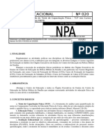 Norma Educacional Nr 020 v 1-1-2020 Criterios Para a Realizacao