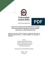 Analisis psicomotor (incluye modelo GALLAHUE)