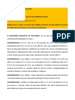 RESOLUÇÃO SME 246 - MATRIZ CURRICULAR 2021 - DO 03-02-2021