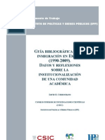 Guia bibliografica sobre inmigracion en España