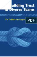 Building Trust in Diverse Teams: The toolkit for emergency response