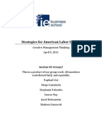 Strategies for American Labor Unions