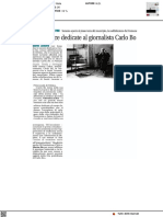 Due mostre dedicate al giornalista Carlo Bo - Il Levante del 10 settembre 2021