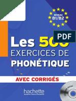 Les 500 Exercices de Phonétique B1B2