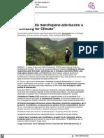 Le università marchigiane aderiscono a Climbing for Climate - Il Metauro.it, 10 settembre 2021