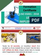Support de La Séance de Présentation ISO 45001 LEAD IMPLEMENTER