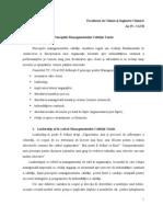Principiile managementului calitãţii totale