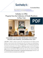 Property From the Collection of Dodie Rosekrans - Sotheby's New York, 2011