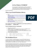 Installing Oracle 9i on Windows Xp-2000
