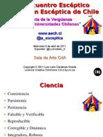 Diapositivas de la presentación del XII Encuentro Escéptico