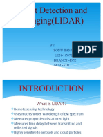 Light Detection and Ranging(LIDAR)