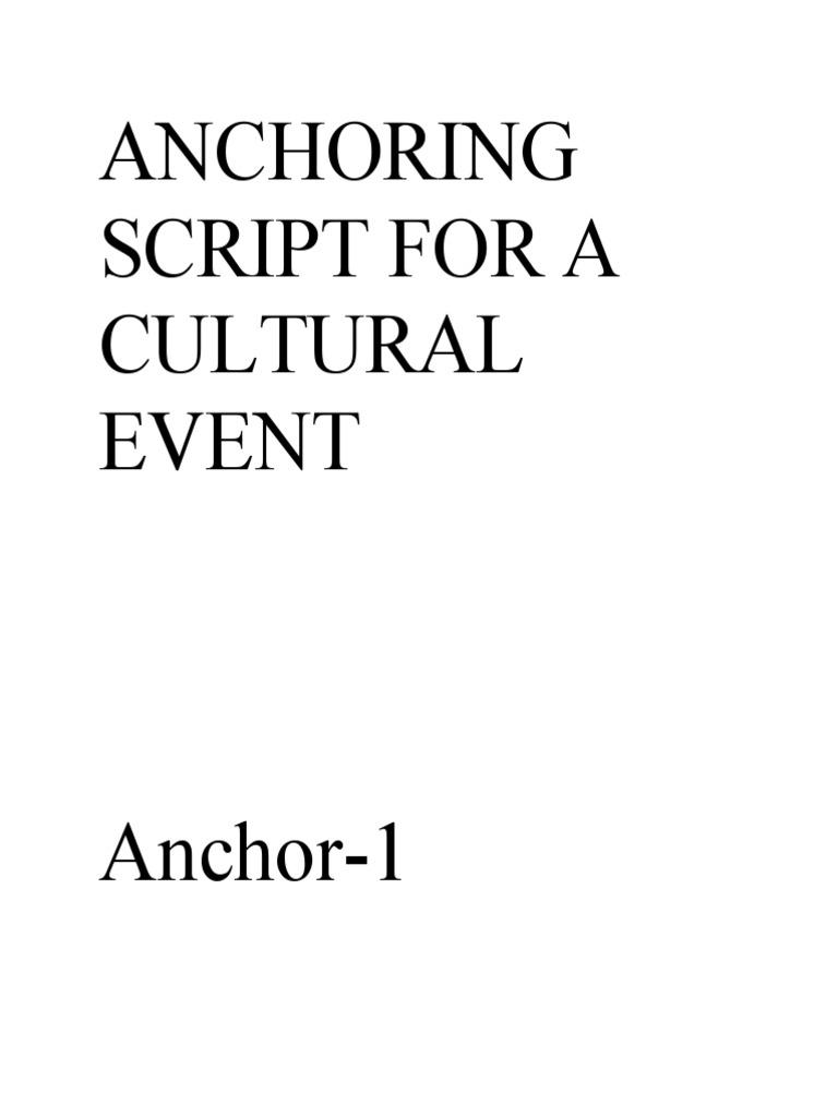 sc 1 st  Scribd & ANCHORING SCRIPT FOR A CULTURAL EVENT azcodes.com