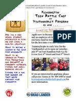 Kensington Teen Battle Chef--Flyer
