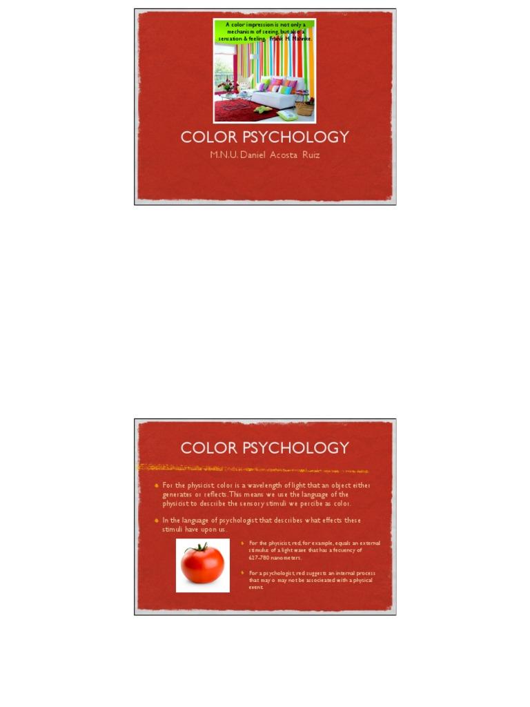 Dissertation on colour psychology