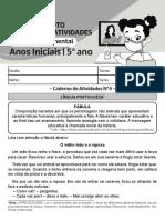 CADERNO DE ATIVIDADES 30 DE AGOSTO A 03 DE SETEMBRO