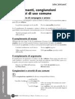 Complementi, congiunzioni e avverbi di uso comune