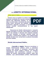 DIREITO INTERNACIONAL PÚBLICO E COMÉRCIO INTERNACIONAL