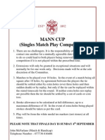 Notice for Mann Cup 2011