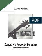 Donde No Alcanza Mi Verso - Score and Parts