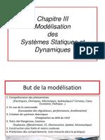 Chapitre III.1 Modelisation Des Systemes Statiques Et Dynamiques