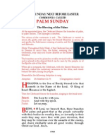 Palm Sunday - Easter Vigil