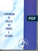 Compendium of Articles of Finance & Accounts