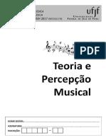 Gabarito Teoria e Percepção Musical