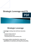 Strategic Leverage and Fit