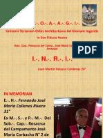 18º INRI - P.·.H.·. Juan Martín Velasco Cárdenas 24°