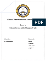 Report on NATIONAL INCOME