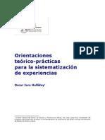 Orientaciones teórico-practicas para sistematizar experiencias