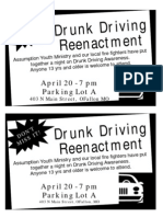 Drunk Driving Reenactment