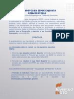 Convocatoria Beca Apoyos en Especie Guanajuato septiembre 2021